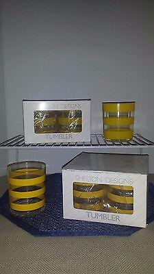 Set/8 VTG Plastic/Acrylic Shelton Ware MCM Tumblers Cups 14Oz. Poolside/Cocktail