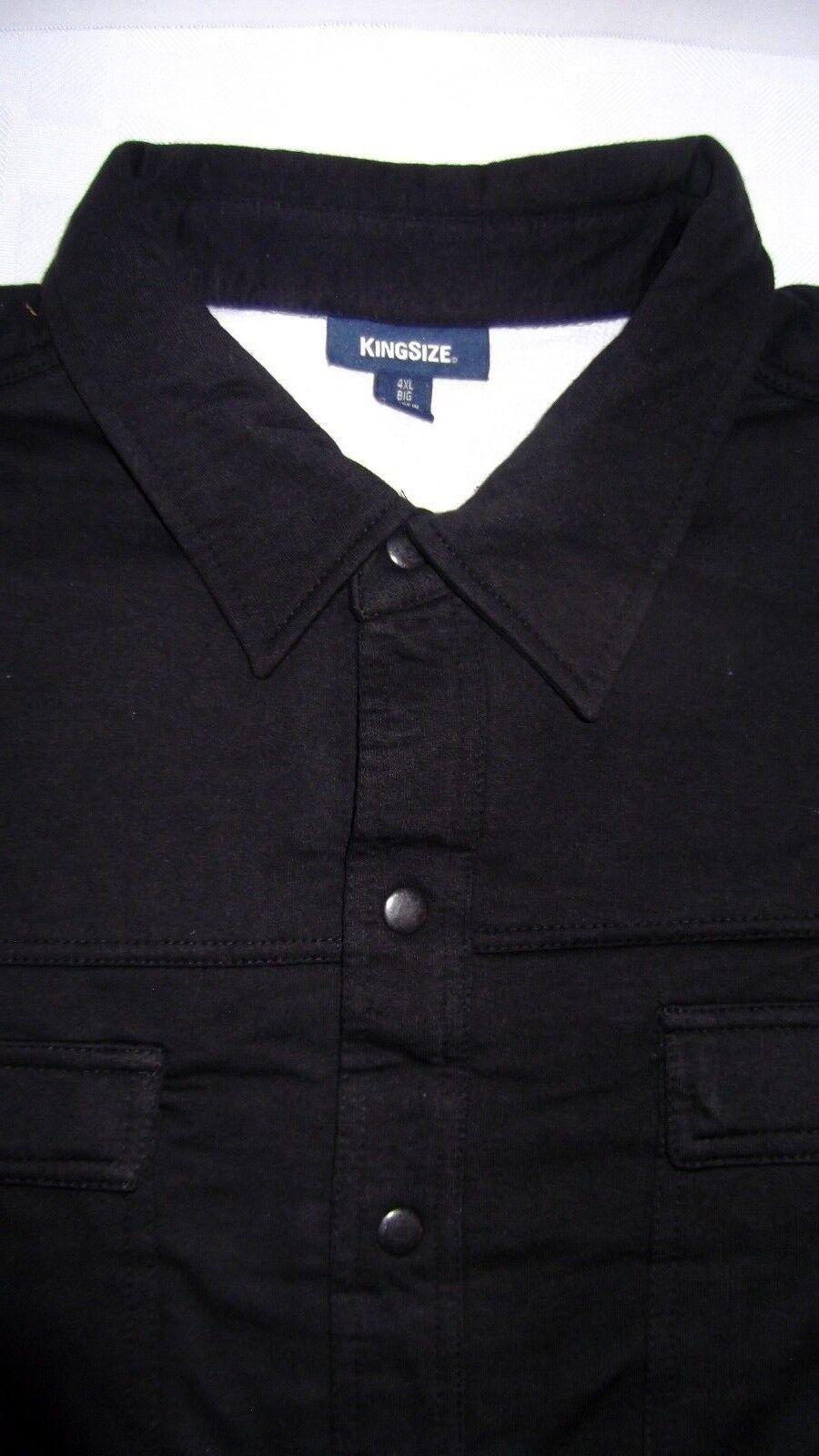Men Big & Tall Black Thermal Lined Coat Jacket Sizes 2x, 3x,