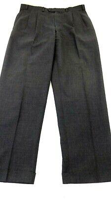CHAPS BY RALPH LAUREN MEN'S WOOL DARK GREY DRESS PANTS SIZE 36 X 32 NICE