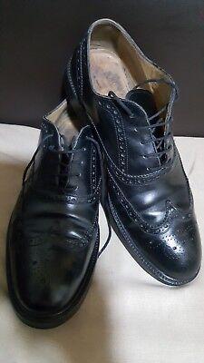 J. WILTON Italian Classic lace-up, Black Leather Men's shoes -size UK 9/ EU 44-