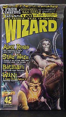 WIZARD MAGAZINE NO. 42-NEW-VILLAIN COVER-LADY DEATH CHROMIUM & STAR WAR WV CARDS