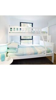 White Single Bunk Bed