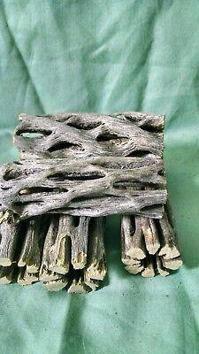 "5 pcs. 3"" Dry Cholla Cactus Wood, Reptile Habitat Fish craft supply, Choya Log"