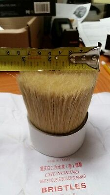 hog hair bristle  for crafts brush making book binding whisks. Clean 95 mm 270g