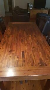 Timber dining table and 4 chairs Hornsby Hornsby Area Preview