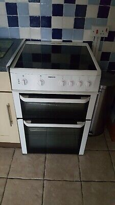 Beko electric ceramic top double oven cooker  BDVC663W 60 CMS WIDE