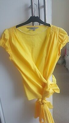 Zara Wrap Top Yellow Small New Without Tags