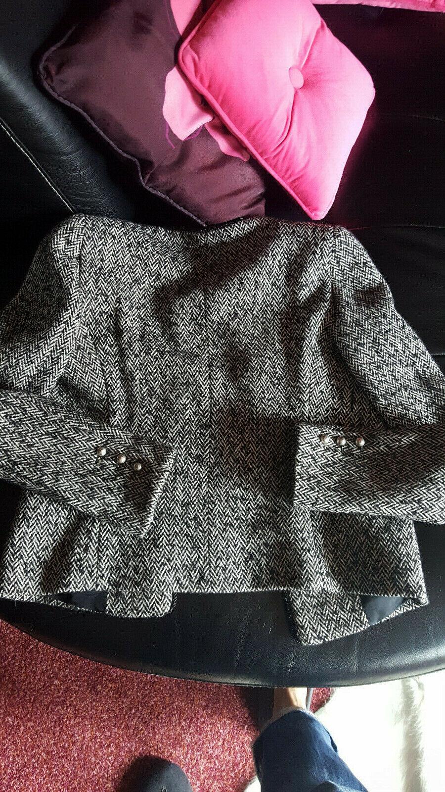 Veste en tweed motifs chevrons, sinequanone - t36