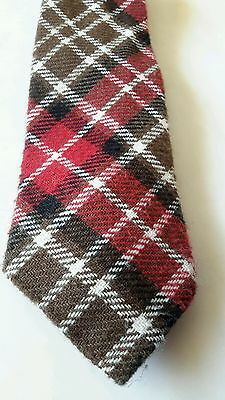 1940s Mens Ties | Wide Ties & Painted Ties ESTATE FRESH WPL 6152 Vintage 1940's Men's Neck Tie Acrylic Plaid Preppy RETRO $8.50 AT vintagedancer.com
