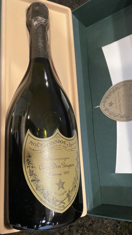1995 Cuvée Dom Perignon , FULL UNOPENED Bottle With Advertising and Original Box
