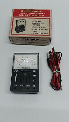 Vintage Micronta 1000 Ohmsvolt Multi-tester In Original Box