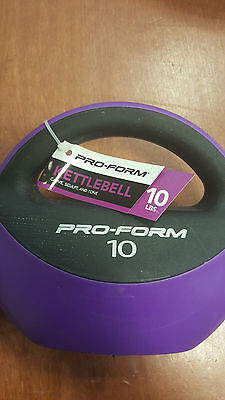 BRAND NEW  10 POUND PRO-FORM PURSE KETTLEBELL!! FREE SHIPPING! EASY GRIP