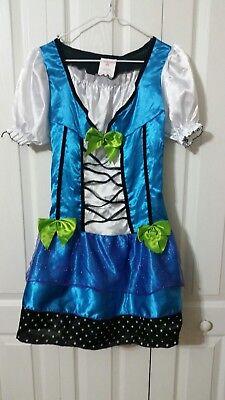 Blue Butterfly Dress Wings Headband Halloween Costume Childs Size L(10-12)](Blue Butterfly Halloween Costumes)