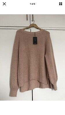 M&S pink jumper with alpaca size large