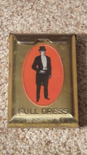 Full Dress Pocket Tobacco Tin ~NEAR MINT~