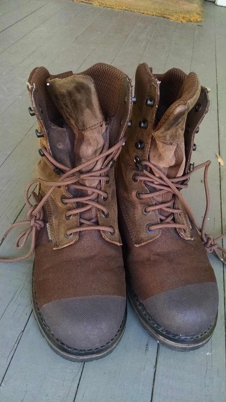d2241763d33 Wolverine mens boots size 7 EW leather waterproof insulated hard toe W07911