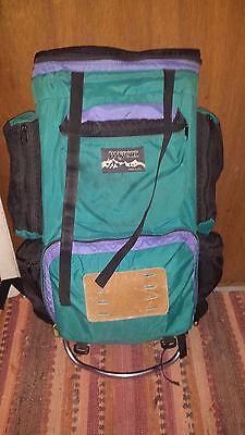 Vintage 90 s  Jansport external frame backpack  large  33