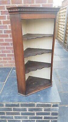 Victorian Corner Cabinet Shelf Unit (local delivery possible)