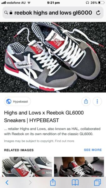 64f963583af Reebok X Highs   Lows GL6000 size 10 not Jordan or yeezy ultrboost ...