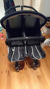 Double pram with cover and bumprider Hunters Hill Hunters Hill Area Preview