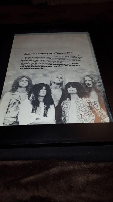 Aerosmith Dream On Rare Original Promo Poster Ad Framed!