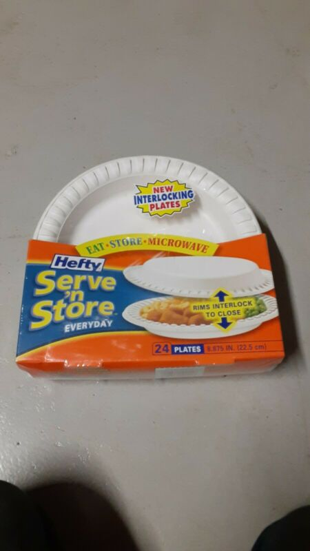 Hefty Serve N Store Interlocking Plates Pack Of 24