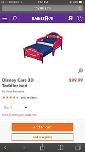 Toddler Bed (Cars) w/ Mattress in excellent use!  Kitchener / Waterloo Kitchener Area image 5