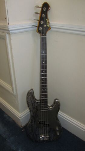 Custom Hand Painted Aria Pro II Bass Guitar