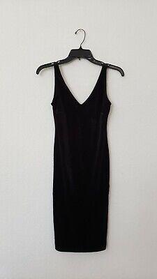 Anthropologie Dress New Size Small Black Velvet Sleeveless Bodycon Sexy