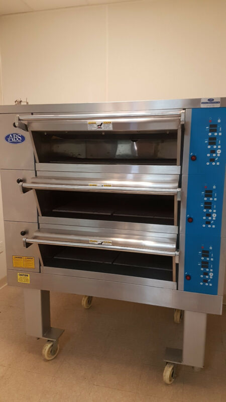 ABS Bakery Electric 3-Deck Oven - Stone hearth - Two Pan wide