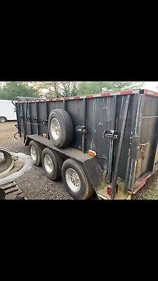 Baggett. Heavy Duty 21 K 7 X 16 Bumper Pull Triple Axel Trailer Gvw 21000 Lb