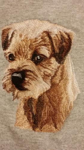 Embroidered Ladies Short-Sleeved T-Shirt - Border Terrier BT3415