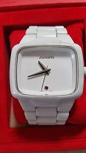 Ceramic Nixon White Player watch with ruby stone Grange Charles Sturt Area Preview