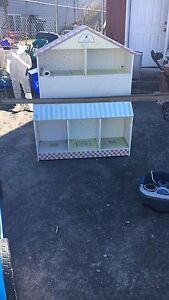 Girls single doll house bed