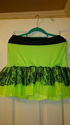 Green And Black Tutu (Tutu skirt in lime green and black lace size)