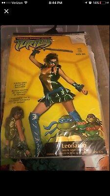 Adult Woman Ninja Turtle Costume (Leonardo) - Medium