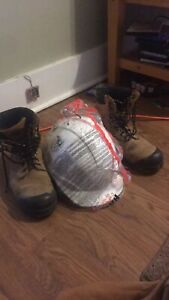Hardhat and work boots