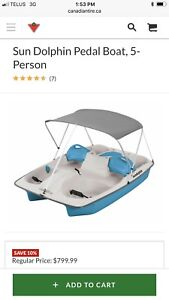 Barely used paddle boat.