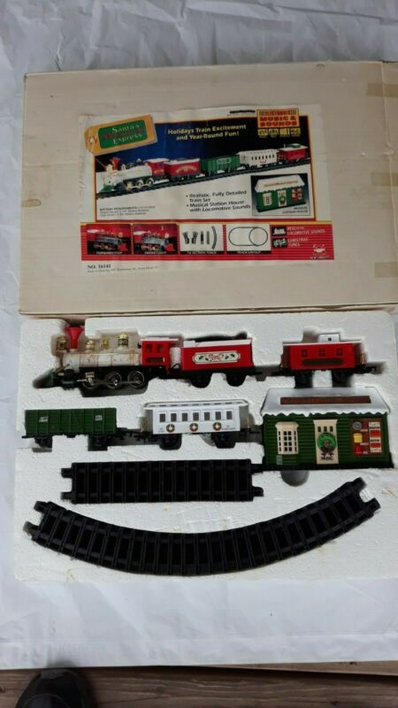 Newbright Musical Christmas Express Train Set. Antique NIB Excellent condition!