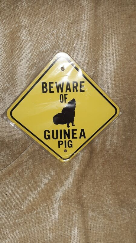 Beware Of Guinea pig metal Sign, wall, cage