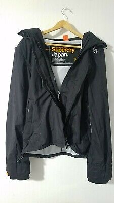 NWT Superdry Japan The Windcheater Men's Jacket Black Size Medium