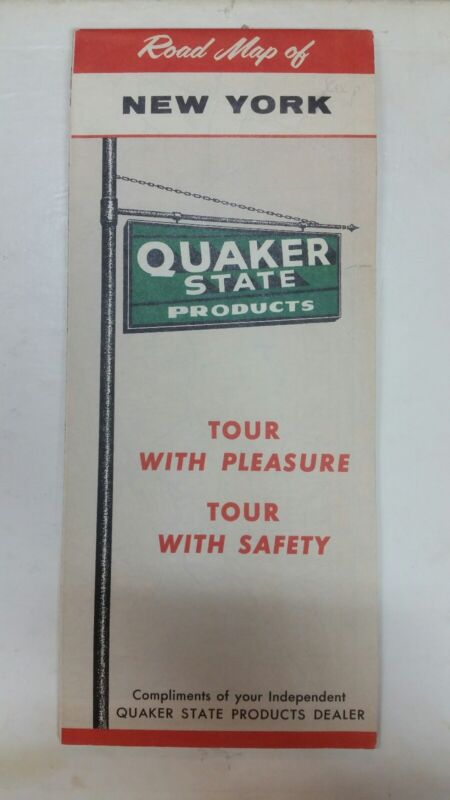 1970 Quaker State New York  road map