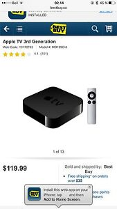 APPLE TV 3RD GEN - BARELY USED