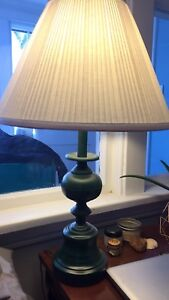 Forest green lamp