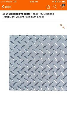 18x Diamond Tread Lightweight Aluminum Sheet Plate 12 X 12 .025