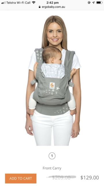 344a3f076b9 Ergobaby Original Baby Carrier  Performance - Charcoal