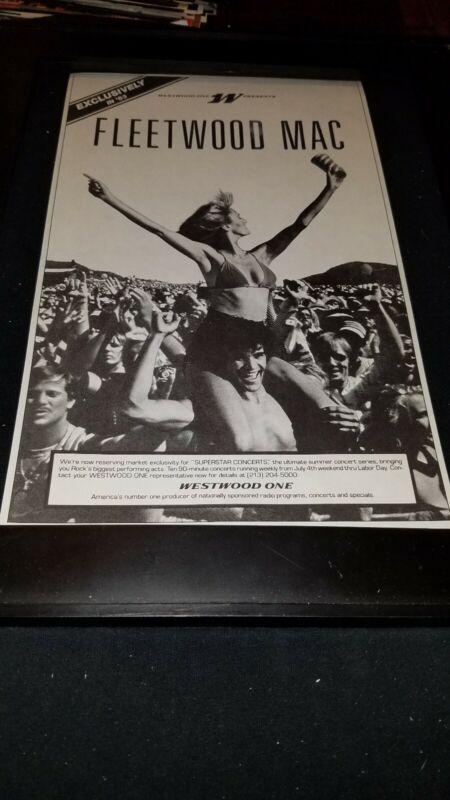 Fleetwood Mac Rare Original Westwood One Radio Promo Poster Ad Framed!
