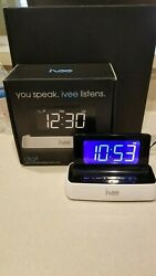 Ivee Digital Voice Controlled Talking Alarm Clock Model iv1 Interactive Voice