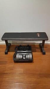 20kg Weight Set & Flat Bench Franklin Gungahlin Area Preview