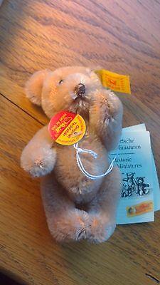 Steiff 1984 Original Teddy Honey Bear Mohair 10cm EAN 030055